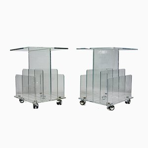 Clear Acrylic Perspex Side Tables, Set of 2