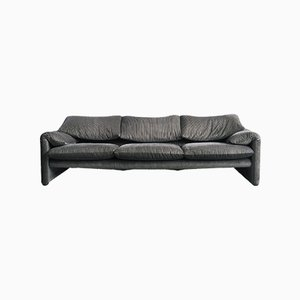 3-Seater Maralunga Sofa by Vigo Magistretti for Cassina