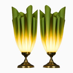 Französische Ophélie Tischlampen von Georgia Jacob, 2er Set