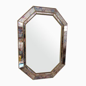 Achteckiger Spiegel mit Parc Loses