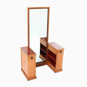 Modernist Haagse School Oak Dressing Table or Vanity by Hendrik Wouda for H. Pander & Zn, 1924