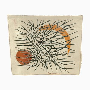 French Wool Tapestry, 1960s