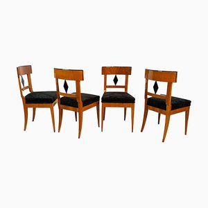 Biedermeier Chairs in Cherry Wood, South Germany, 1820s, Set of 4