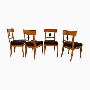 Biedermeier Stühle aus Kirschholz, Süddeutschland, 1820er, 4er Set