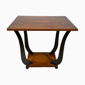 Tavolino Art Déco impiallacciato in legno di noce ebanizzato, Francia, anni '30