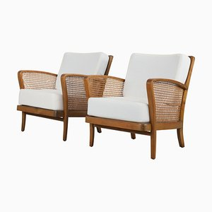 Armchairs With Viennese Wicker, 1950s, Set of 2