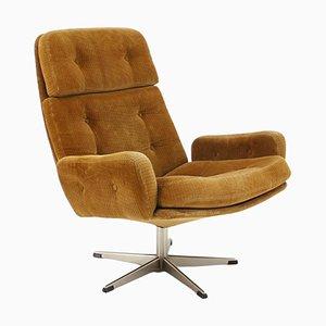 Corduroy Swivel Chair, Denmark, 1970s
