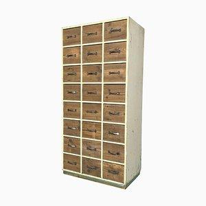 Vintage Industrial Wooden Filing Cabinet, 1940s