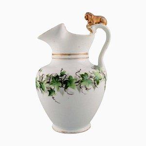 Antique Porcelain Chocolate Jug with Modelled Lion from Bing & Grøndahl