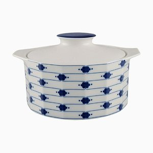 Corinth Lidded Tureen in Blue Painted Porcelain by Tapio Wirkkala for Rosenthal