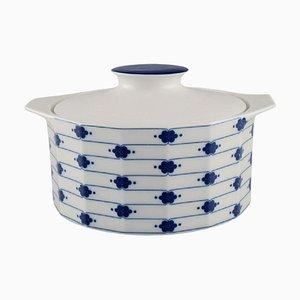 Corinth Terrine aus blauem Porzellan mit Deckel von Tapio Wirkkala für Rosenthal