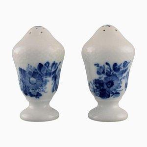 Blue Flower Curved Salt and Pepper Shaker from Royal Copenhagen
