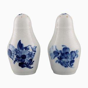 Blue Flower Braided Salt and Pepper Shaker from Royal Copenhagen, Set of 2