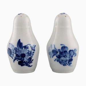 Saliera e pepiera a forma di fiore blu di Royal Copenhagen, set di 2