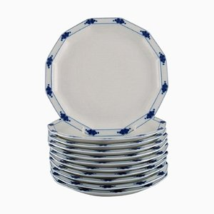 Corinth Plates in Blue Painted Porcelain by Tapio Wirkkala for Rosenthal, Set of 11
