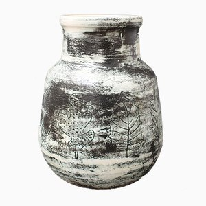 French Vintage Ceramic Vase by Jacques Blin, 1950s