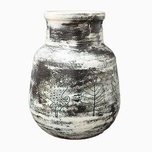 Jarrón francés vintage de cerámica de Jacques Blin, años 50
