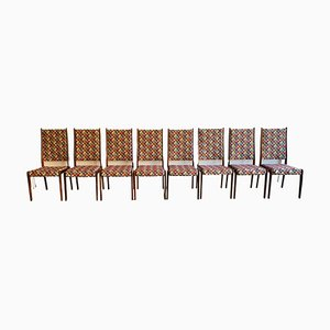 Danish Rosewood Dining Chairs by Johannes Andersen for Uldum Møbelfabrik, 1960s, Set of 8