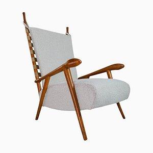 Skulpturaler Sessel aus Eiche, Frankreich, 1940er