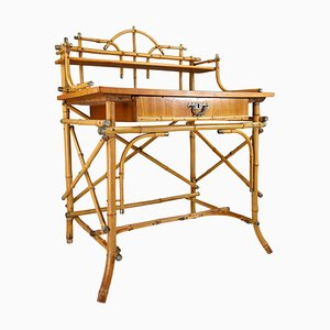 Early 20th Century French Painted Bamboo Desk