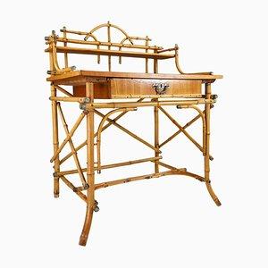 Französischer Schreibtisch aus lackiertem Bambus, frühes 20. Jh
