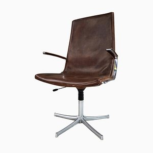 Leather Office / Desk Swivel Armchair from Walter Knoll, Germany, 1970s