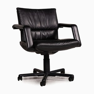 Black Leather Chair from Vitra