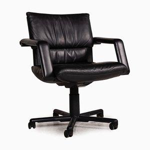 Chaise en Cuir Noir de Vitra