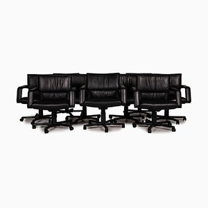 Leather Chair Set from Vitra, Set of 10