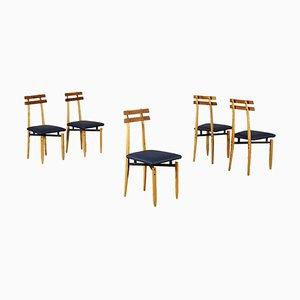 Stuhl aus Eschenholz & Kunstleder von Roberto Aloi, 1960er