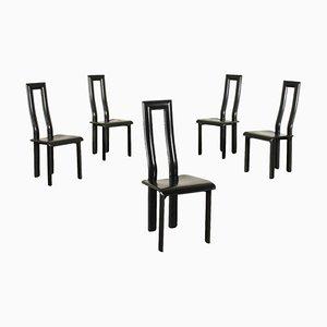 Stuhl aus Metall & Leder, 1980er