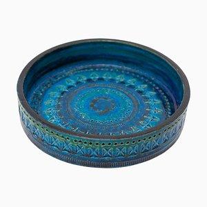 Bitossi Ceramic Rimini Blue Vase by Aldo Londi, Italy