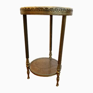 Flower Stool with a Top of Marble on a Brass Frame.