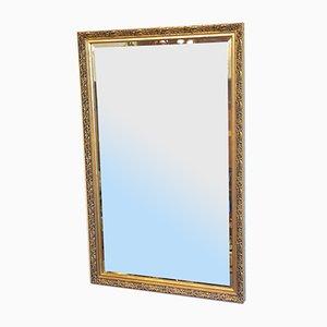 Specchio da parete dorato, anni '50