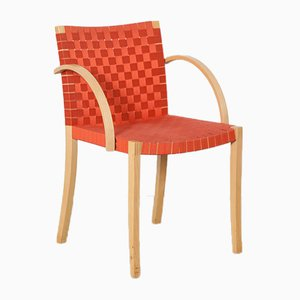 Sedia nr. 757 rosso-arancione di Peter Maly per Thonet