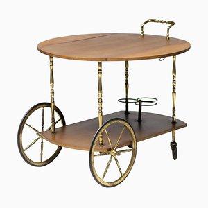 Italian Walnut Bar Cart