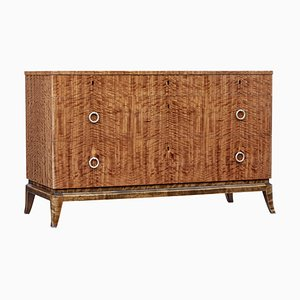 Mid 20th-Century Scandinavian Satinwood Chest of Drawers