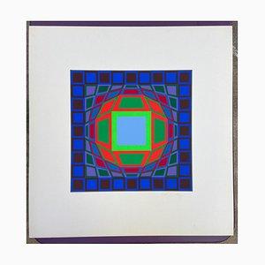 Victor Vasarely, Progression, 1970er, Serigraphie auf Papier