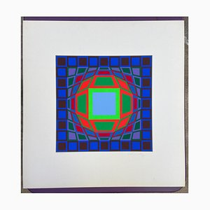 Victor Vasarely, Progression, 1970s, Serigraph on Paper