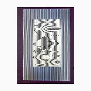 Victor Vasarely, Cithare, 1973, Serigrafia su cartone
