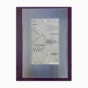 Victor Vasarely, Cithare, 1973, Sérigraphie sur Carton