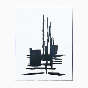 André Ferrand, Composición 1, 2010, tinta china sobre papel