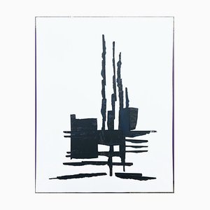 André Ferrand, Composition 1, 2010, Tusche auf Papier