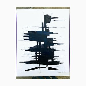 André Ferrand, Composition 3, 2010, Tusche auf Papier
