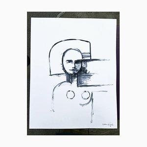 André Ferrand, Portrait 1, 2010, Tusche auf Papier