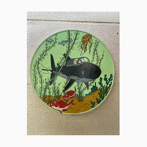 Vinc, Road Sign, Tintin le trésor de Rackham le Rouge, 2021, Acrylic on Metal