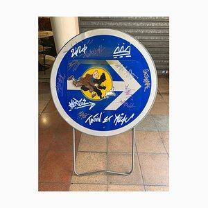 Vinc, Tintin and Snowy Sign, 2020, Acrylic on Metal