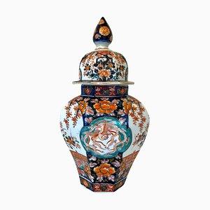 Large Antique Imari Lidded Vase