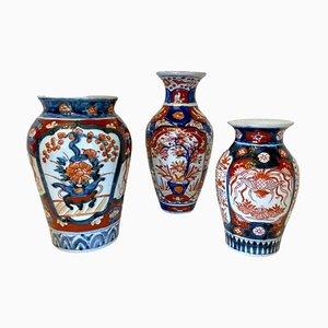 Antike Imari Vasen, 3er Set