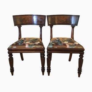 Sedie da biblioteca Regency antiche in mogano, set di 2